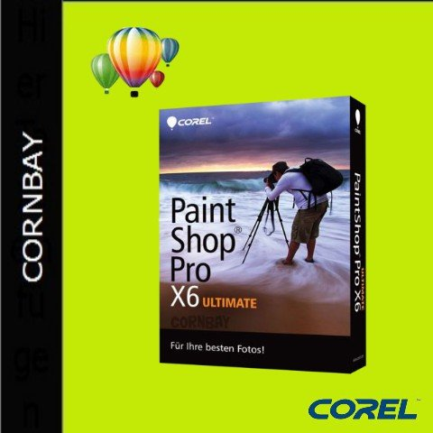 corel paintshop pro x6 ultimate windows deutsch box ebay. Black Bedroom Furniture Sets. Home Design Ideas