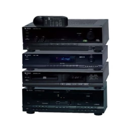 x4 tech hifi komponenten verst rker tuner cd player tape 1000 er black edition ebay. Black Bedroom Furniture Sets. Home Design Ideas