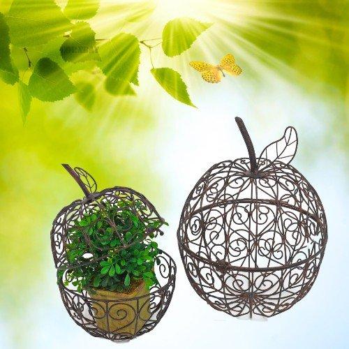 Pflanzapfel pflanz apfel metall rostbraun dekoration for Apfel dekoration