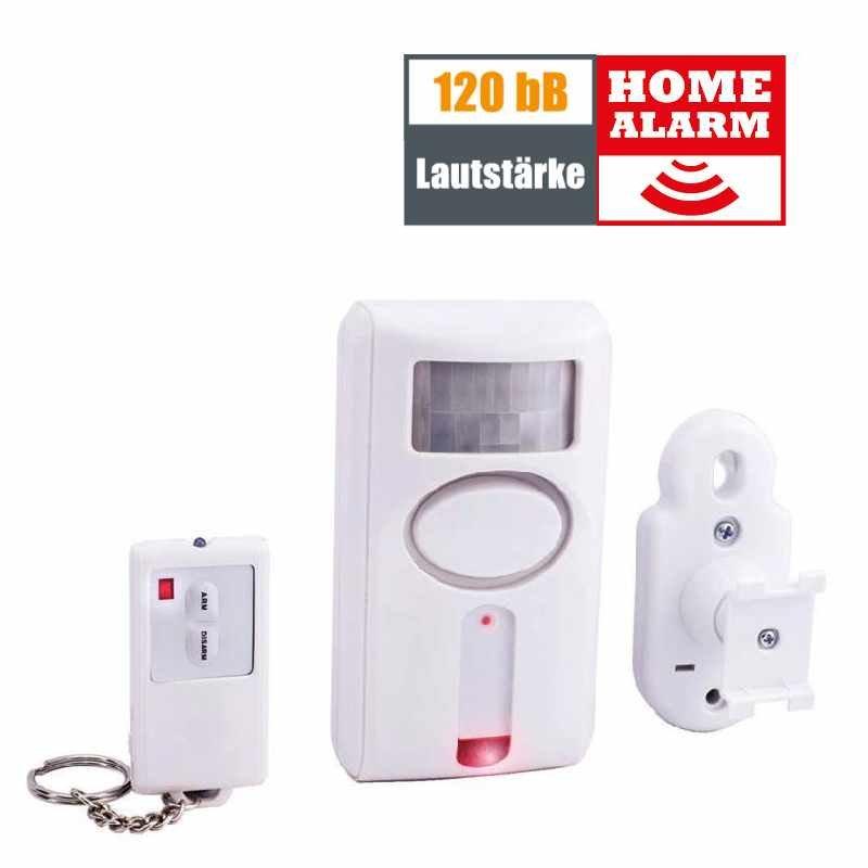 x4 life bewegungsmelder alarm mit fernbedienung security. Black Bedroom Furniture Sets. Home Design Ideas